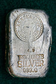 Alaska Mint Assay - Silver Bullion Bar — Stock Photo