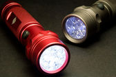 Moderne led-taschenlampen — Stockfoto