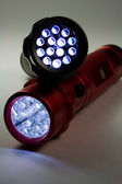 Modern LED Flashlights — Stock Photo