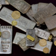 Stock Photo: Silver and Gold Bullion Bars, Coins and Rings