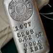 Stock Photo: Vintage Homestake Mining Company Silver Bullion Bar