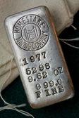 Vintage Homestake Mining Company Silver Bullion Bar — Stock Photo
