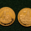 Stock Photo: Two One-half Ounce Pure Gold Coins