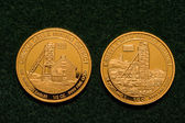 Two One-half Ounce Pure Gold Coins — Stock Photo