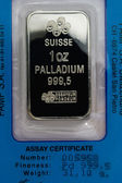 One Troy Ounce Pure Palladium Bar — Stock Photo