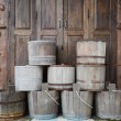 Stock Photo: Wooden pail