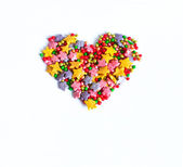 Heart, the symbol of love, postcard, frame, — Stock Photo