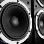 Black audio speakers — Stock Photo #31804825