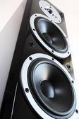 Altoparlanti audio neri — Foto Stock