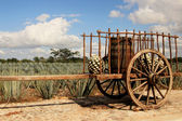 Old traditional mexican trailer — Stockfoto