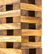 Wooden tower block game — Stock Photo