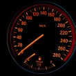 Speedometer of a sport diesel car — Stock Photo