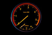 Diesel car tachometer — Stock Photo