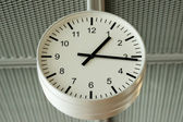 Airport analog clock — Stock Photo