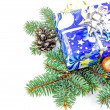 Christmas gift and decoration — Stock Photo