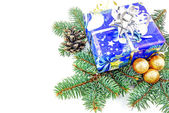 Christmas gift and decoration — Foto Stock
