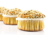 Spelt muffins with sesame and grains — Stock Photo