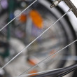Bicycle spokes and nipple — Stock Photo