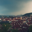 Panorama of evening Prague — Stock Photo