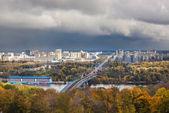 Panorama of autumn Kyiv — Stock Photo
