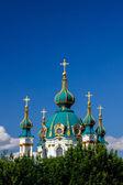 Saint Andrew orthodox church in Kyiv, Ukraine — Stok fotoğraf