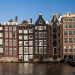 Traditional houses in Amsterdam — Stock Photo