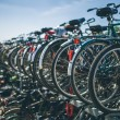 Bicycles parking in Netherlands — Stock Photo