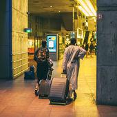 Passangers at Antwerpen railway station — Stock Photo