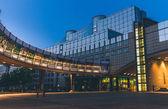 European Parliament in Brussel in the night, Belgium — Stock Photo