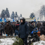 Protests of Euromaidan in Kiev, December 2013 — Stock Photo