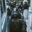 Riot police during Euromaidan protests in Kiev, December 2013 — Stock Photo