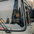 Riot police bus during Euromaidan protests in Kiev, December 2013 — Stock Photo #37166037