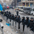 Citizens and riot police. Protests of Euromaidin Kiev, December 2013 — Stock Photo #37166137