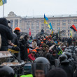 Citizens and riot police. Protests of Euromaidan in Kiev, December 2013 — Stock Photo