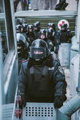 Riot police during Euromaidan protests in Kiev, December 2013 — Stok fotoğraf