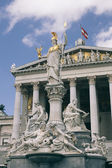 Pallas Athena in front of the Austrian Parliament in Vienna — Stock Photo