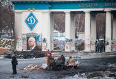Burned area in Kiev — Stock Photo