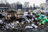 Barricades in Kiev — Stock Photo