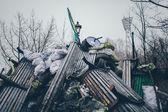 Barrikaden in kiew — Stockfoto