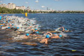 Triathlon swimming — Stock Photo
