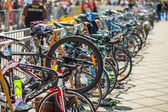 Bicycles at race — Stock Photo