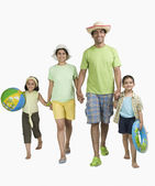 Family enjoying on vacations — Stock Photo
