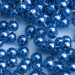 String of blue beads — Stock Photo