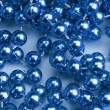 String of blue beads — Lizenzfreies Foto