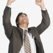 Businessman clenching fists in excitement — Stock Photo #32896459