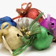 Colorful Christmas bells — Stock Photo