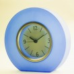 Blue clock — Stock Photo