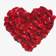 Heart shape made from red rose petals — Stock Photo #32897553