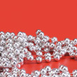 String of silver beads — Foto de Stock
