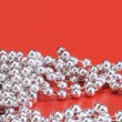 String of silver beads — Stock Photo